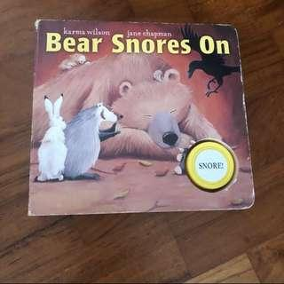 GUC 2-4Y Bear Snores On Board Book Toddler