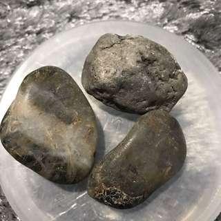 Dark Black/ Grey Marble Pebble
