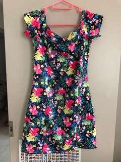 H&M dress wide neck