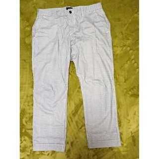 Gap long pants 藍白直間九分褲,九成新,Size 31腰,,褲長約 88 cm