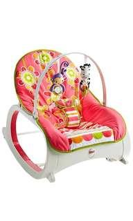 🚚 ~Ready Stocked~ Fisher-Price Infant-to-Toddler Rocker, Floral Confetti - pretty in pink