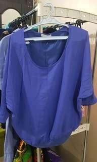 Blue Oversized Blouse