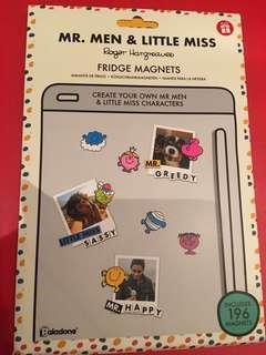 ❤️ Instock - Mr men & little miss fridge magnets