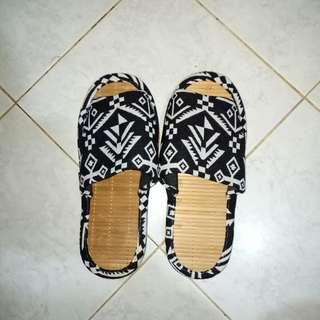 Indoor Aztec slippers