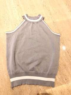 Grey halter top
