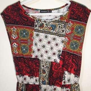 Atmosphere Boho Printed Dress