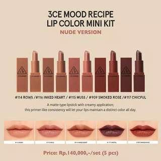 Mini kit lipstick 3ce