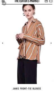 Tem janie front-tie blouse