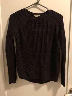 Burgundy Knit H&M Sweater
