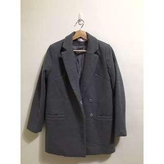 🚚 灰色毛呢西裝大衣
