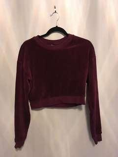 Forever 21 ribbed velour top