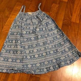 2-3T NEW Denim Chambray Aztec toddler dress
