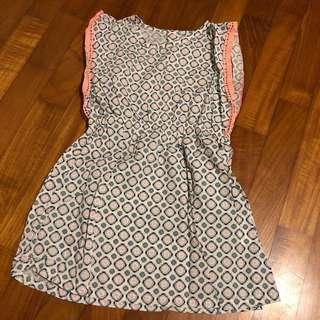 2T NEW Creeks Printed Dress with lace trim