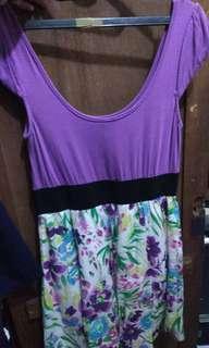 Dress Floral Ungu