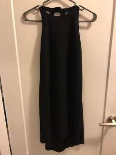 Black Zara Dress with Open Back
