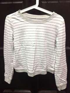 Crop Top Lined / Sweatshirt / Long Sleeve