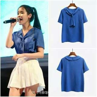 🚚 IU同款百折裙、藍色上衣