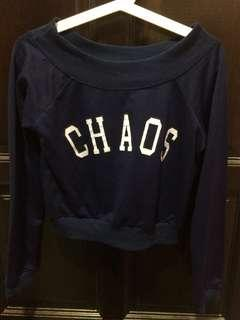 Crop Top Dark Blue / Sweatshirt