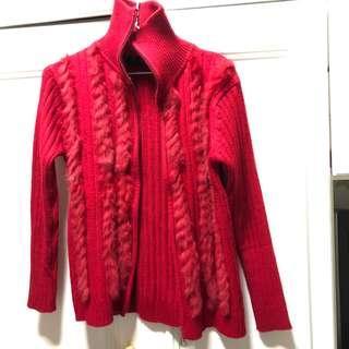 🚚 紅色針織外套 #衣櫃大掃除