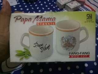 Mug couple set papa mama