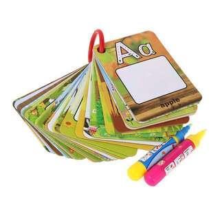 🚚 現貨‼️英文學習自來水畫冊 字卡組 26張+自來水筆