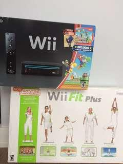 Wii and Wii fit plus!