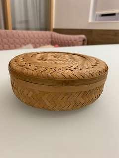 竹編存物盒