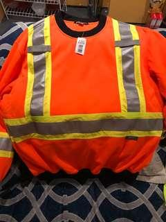 Orange Reflective safety sweater