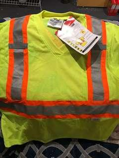 Yellow reflective safety shirt