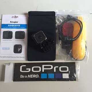 Gopro hero 5 session with package 4k video voice command wifi ready