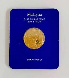 RM500 25th anniversary 1982 gold coin