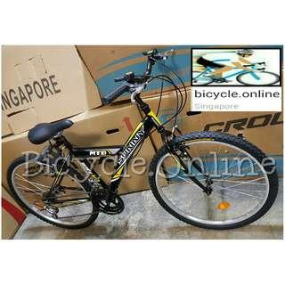 "24"" & 26"" Y-Frame Mountain Bikes ☆ 12 Speeds ☆ Brand New SUNNY-Sports MTB Bicycles"