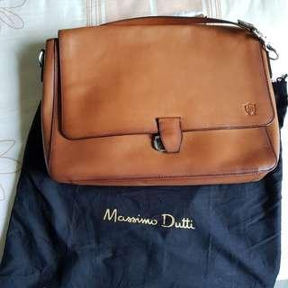 Massimo Dutti Leather Brown Bag Mens