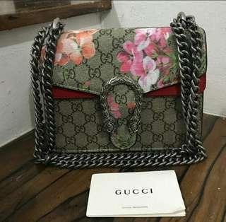 AUTHENTIC QUALITY GUCCI DIONYSUS SLING BAG With serial and dustbag