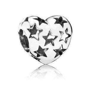 Pandora Sterling Silver Starry Heart Charm