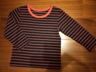 🚚 【五零方案】黑紅條紋上衣