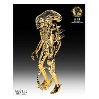 Gentle Giant ALIEN JUMBO GOLD PLATED 35TH ANNIVERSARY 24 INCH FIGURE (GOLD) BNIB Sealed Limited Edition 79 Pieces SOLD OUT