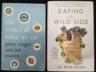 'The ethics of what we eat' & 'Eating on the wild side'