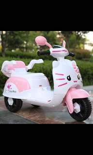 Hello kitty electric bike kids ride on