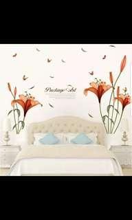 Floral Wall Sticker Living Room Sofa TV Background Wall Sticker Bedroom Warm TV Wall Decoration Sticker