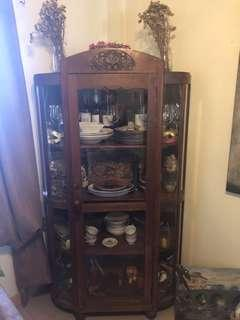 Vintage Art Deco Platera or Display Cabinet/Cupboard