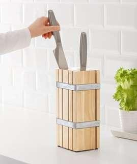 🚚 IKEA 刀架 木製刀架 wood knife holder