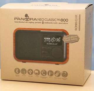 Brand New Pandora Neo Classic No. 800  Multimedia Radio - Quad Alarm (Maple Color)
