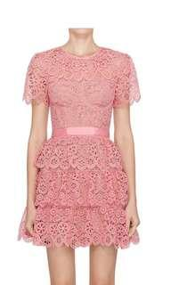 BN Self-Portrait Embroidered Tiered Dress