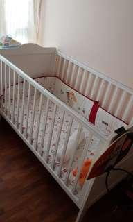 Baby Cot - can be converted to bed