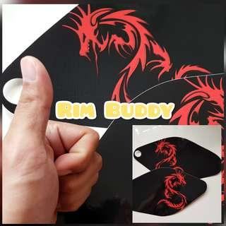 Custom AM / Tempo Scooter side panel stickers by Rim Buddy