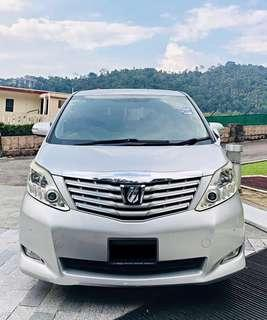 SEWA BELI  TOYOTA ALPHARD 2.4 AUTO YEAR 2008/2014 MONTHLY RM 1980 BALANCE 2 YEARS 6 MONTHS ROADTAX JUNE 2018 LEATHER SEAT 7 SEATER 2 POWERDOOR TIPTOP CONDITION  DP KLIK wasap.my/60133524312/alphard14
