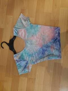 Crop top multicoloured size xs