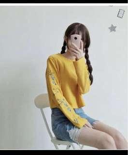 ⚡️SALE⚡️MUSTARD YELLOW LONG SLEEVE TOP