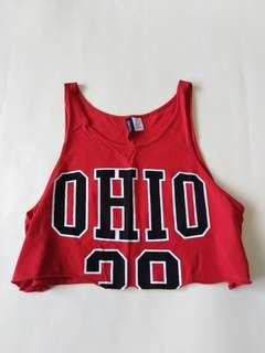 H&M Divided OHIO Crop Top